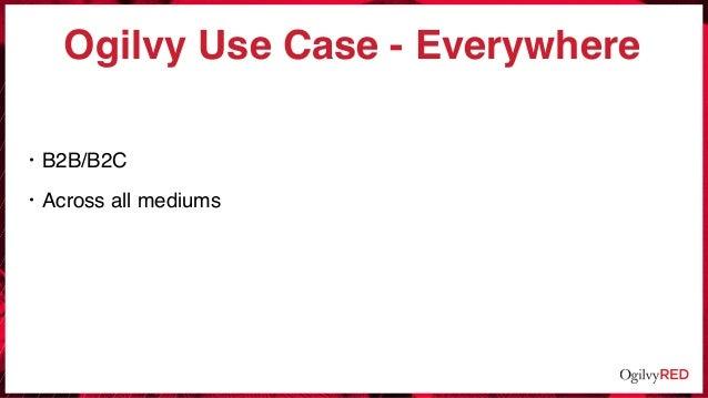 Ogilvy Use Case - Everywhere • B2B/B2C • Across all mediums