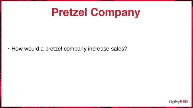 Pretzel Company • How would a pretzel company increase sales?