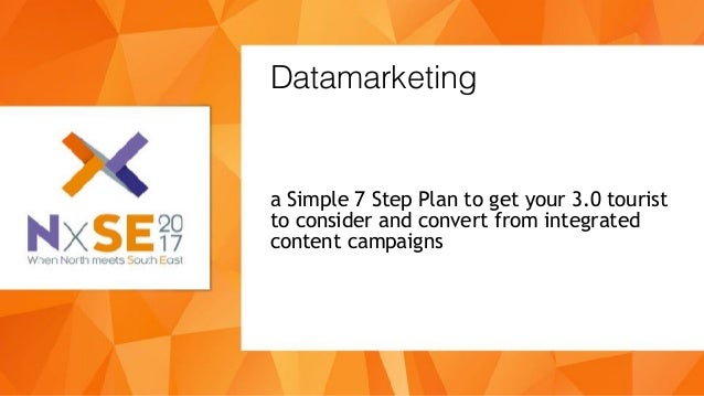 a Simple 7 Step Plan to get your 3.0 tourist to consider and convert from integrated content campaigns Datamarketing