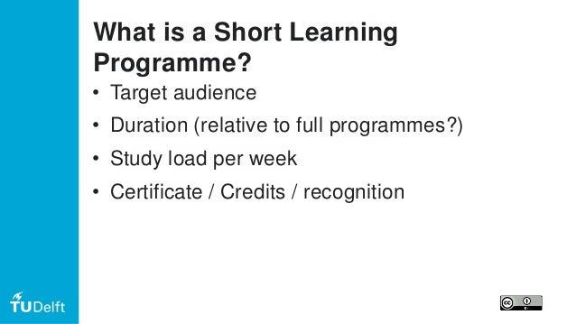 Online Short Learning Programmes for EADTU/ENQA seminar Slide 3