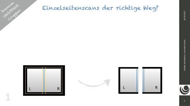 5 SteffenHankiewicz,intrandaGmbH26.09.2017 11 L R L R Scannen UND/ODER  C roppen Einzelseitenscans der richtige Weg?