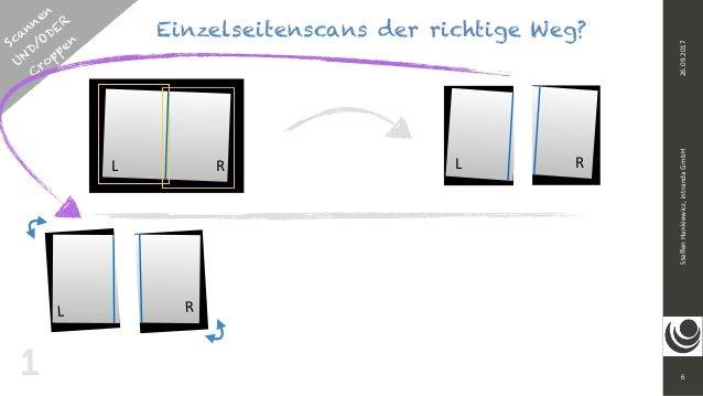Scannen UND/ODER  C roppen 6 SteffenHankiewicz,intrandaGmbH26.09.2017 Einzelseitenscans der richtige Weg? 11 L RR L RR...