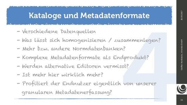 416 SteffenHankiewicz,intrandaGmbH26.09.2017 - Verschiedene Datenquellen - Was lässt sich homogenisieren / zusammenlege...