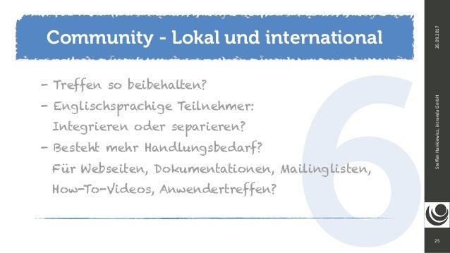 625 SteffenHankiewicz,intrandaGmbH26.09.2017 - Treffen so beibehalten? - Englischsprachige Teilnehmer:  Integrieren od...