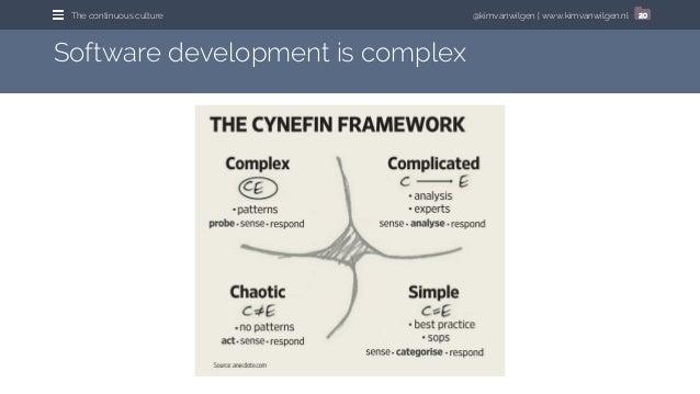 @kimvanwilgen | www.kimvanwilgen.nlThe continuous culture 20 Software development is complex