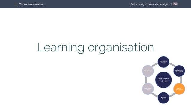@kimvanwilgen | www.kimvanwilgen.nlThe continuous culture 72 Learning organisation Continuous culture Continuous delivery ...