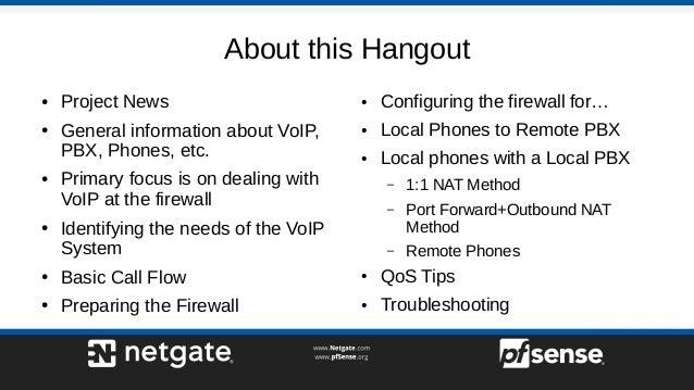 Firewall Best Practices for VoIP on pfSense - pfSense
