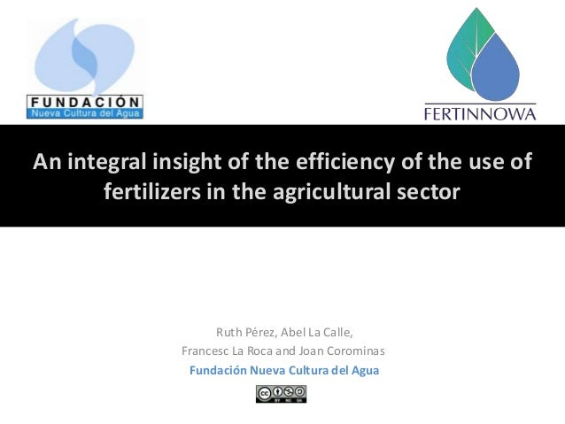 An integral insight of the efficiency of the use of fertilizers in the agricultural sector Ruth Pérez, Abel La Calle, Fran...