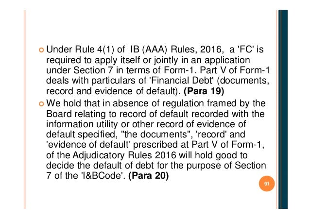 insolvency and bankruptcy application to adjudicating authority rules 2016 pdf