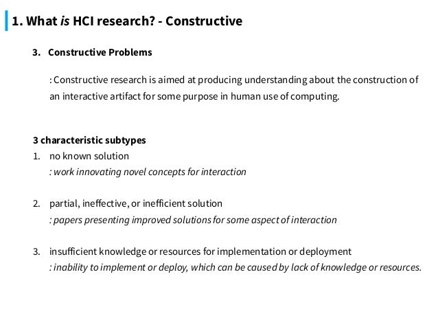 HCI Research As Problem Solving