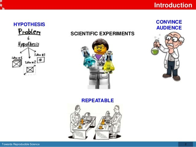 Towards Reproducible Science Introduction 2 HYPOTHESIS CONVINCE AUDIENCE REPEATABLE SCIENTIFIC EXPERIMENTS