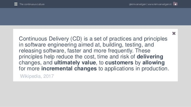 20171030   (tdc) continuously delivering continuous delivery Slide 3