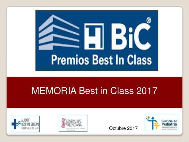 MEMORIA Best in Class 2017 Octubre 2017