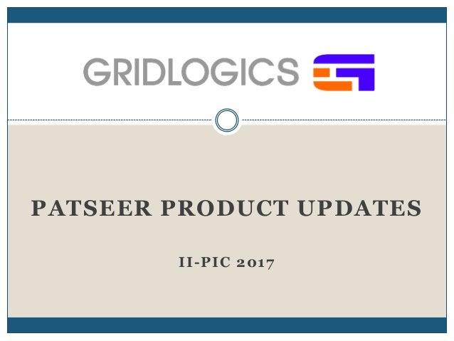 PATSEER PRODUCT UPDATES II-PIC 2017