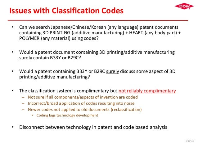 II-PIC 2017: Case of Classification Codes
