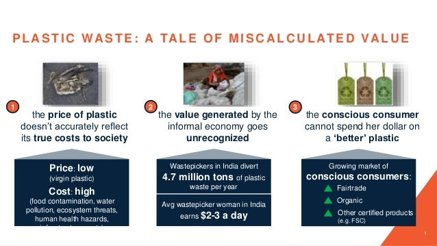 1 the price of plastic doesn't accurately reflect its true costs to society 1 the value generated by the informal economy ...