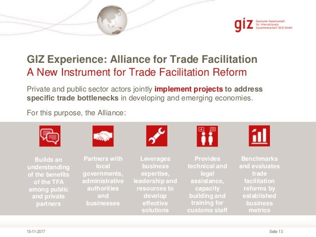 GIZ's Experiences in Trade Facilitation with Private Sector Invovleme…