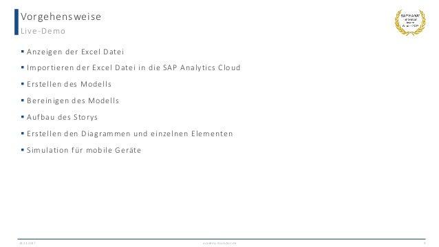 Ad Hoc Reports auf Knopfdruck mit der SAP Analytics Cloud