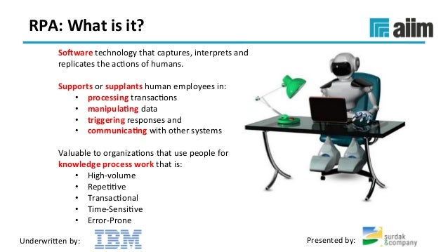 Webinar Slides] Robotic Process Automation 101 What is it