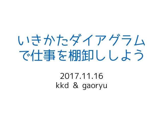 いきかたダイアグラム で仕事を棚卸ししよう 2017.11.16 kkd & gaoryu