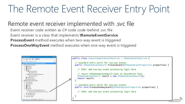 From Event Receivers to SharePoint Webhooks (SPS Lisbon 2017)