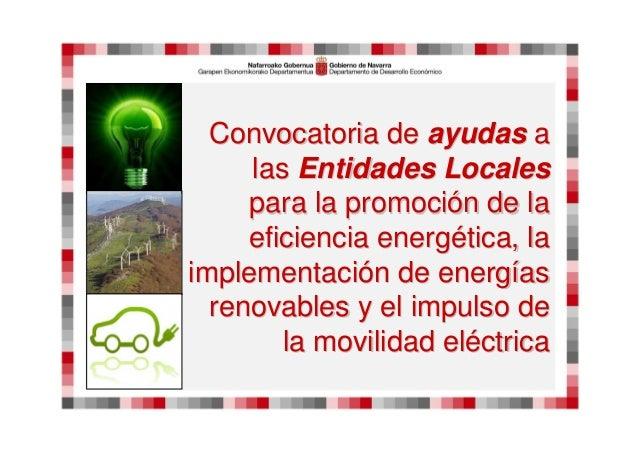 ConvocatoriaConvocatoria dede ayudasayudas aa laslas EntidadesEntidades LocalesLocales parapara la promocila promocióón de...