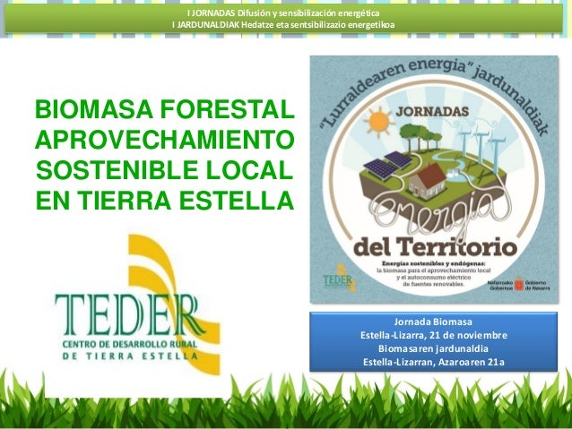 I JORNADAS Difusión y sensibilización energética I JARDUNALDIAK Hedatze eta sentsibilizazio energetikoa Jornada Biomasa Es...