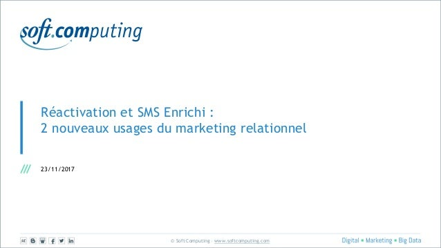 © Soft Computing – www.softcomputing.com Réactivation et SMS Enrichi : 2 nouveaux usages du marketing relationnel 23/11/20...