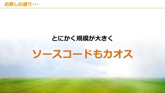 Copyright © Kakaku.com Inc. All Rights Reserved. お察しの通り・・・ とにかく規模が大きく ソースコードもカオス