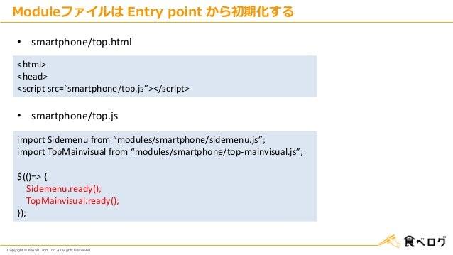 "Copyright © Kakaku.com Inc. All Rights Reserved. Moduleファイルは Entry point から初期化する <html> <head> <script src=""smartphone/top..."