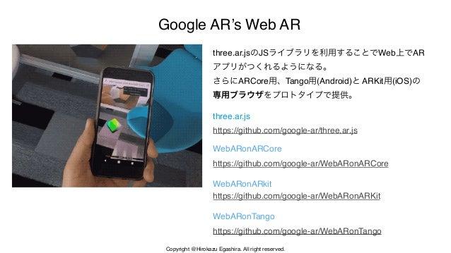 Google ARが提供する WebAR 101