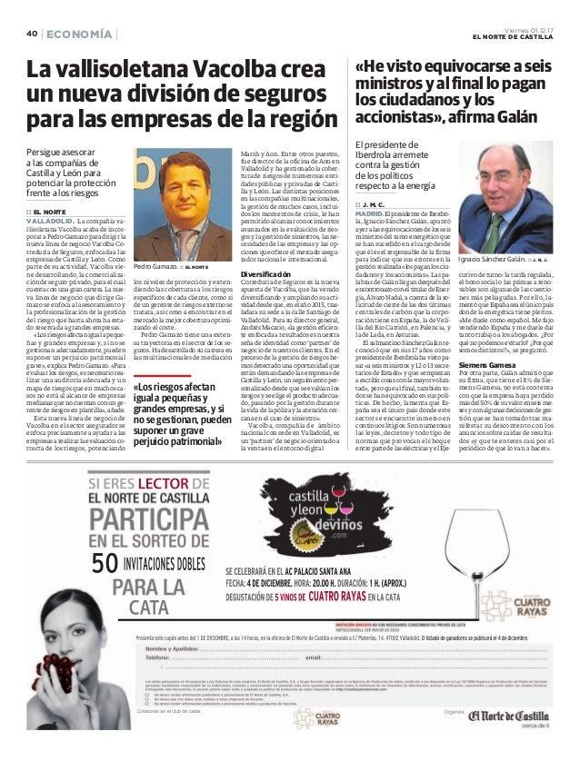 Persigue asesorar a las compañías de Castilla y León para potenciar la protección frente a los riesgos :: EL NORTE VALLADO...