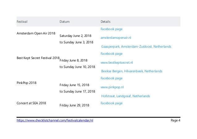 festival datum details amsterdam open air 2018