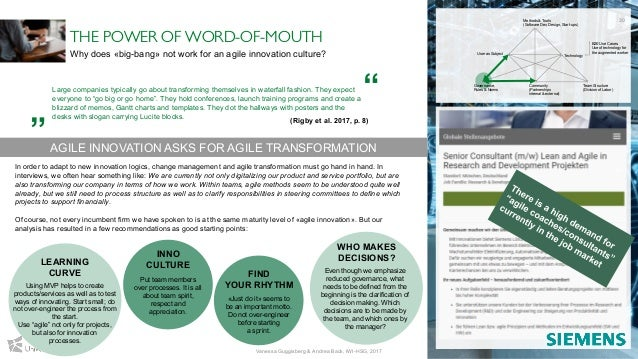 THE POWER OF WORD-OF-MOUTH Why does «big-bang» not work for an agile innovation culture? Large companies typically go abou...