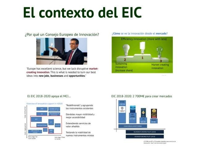 20171219 Claves del instrumento PYME en el entorno del EIC  2018 20 sevilla Slide 2