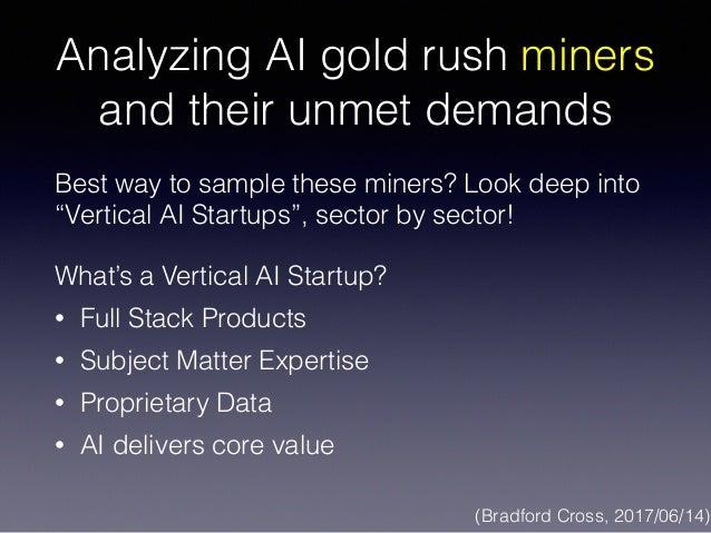 AI gold rush, tool vendors and the next big thing