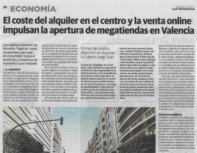 Apertura de megatiendas en Valencia (Flagship Stores)