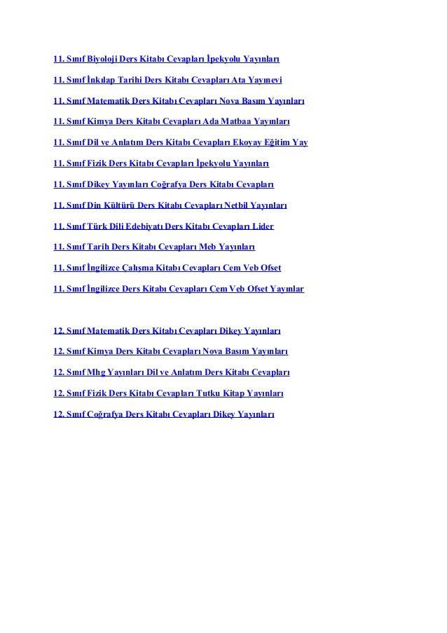 2017 2018 Ders Kitabı Cevapları