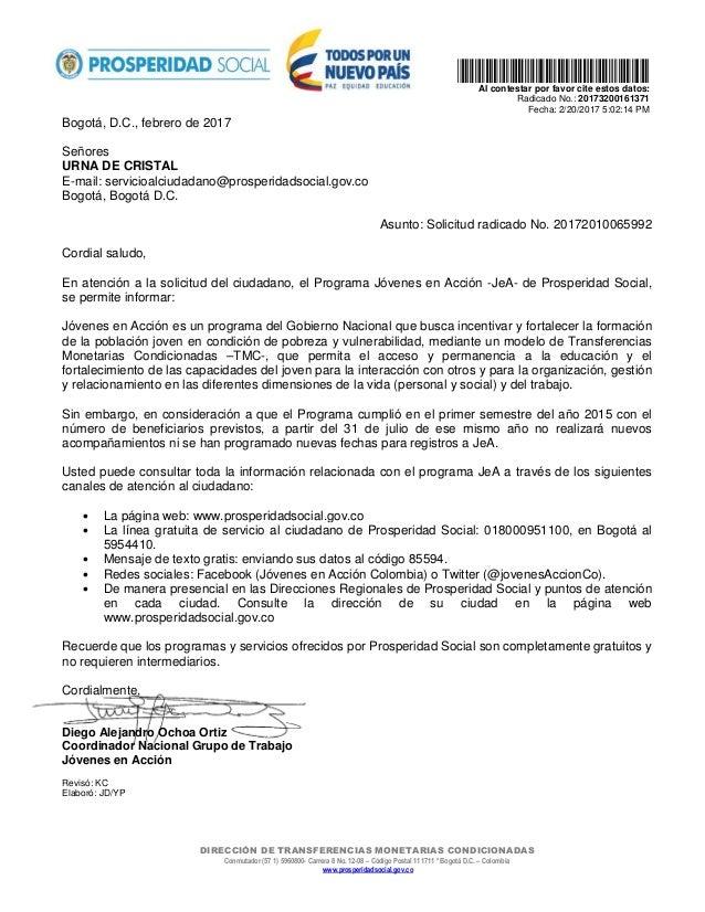 DIRECCIÓN DE TRANSFERENCIAS MONETARIAS CONDICIONADAS Conmutador (57 1) 5960800- Carrera 8 No. 12-08 – Código Postal 111711...