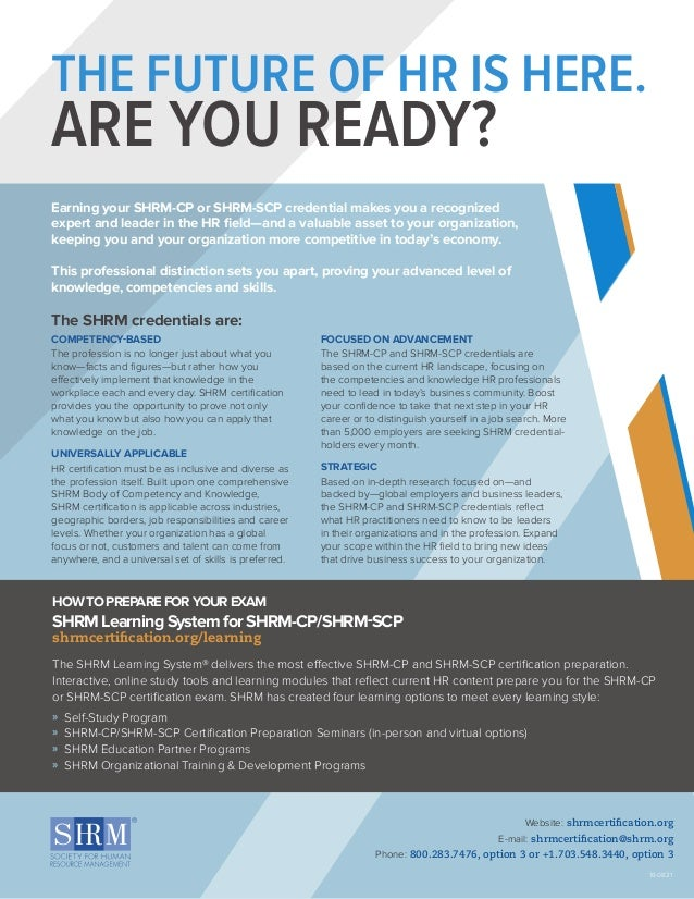 Shrm Certification Resources At A Glance