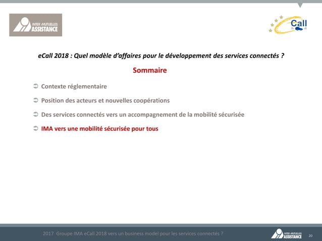 20 Sommaire  Contexte réglementaire  Position des acteurs et nouvelles coopérations  Des services connectés vers un acc...