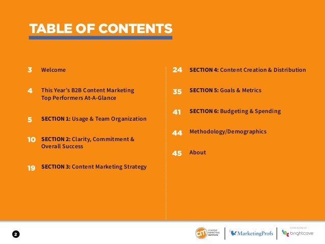 2017 B2B Content Marketing Benchmarks, Budgets, and Trends Slide 2