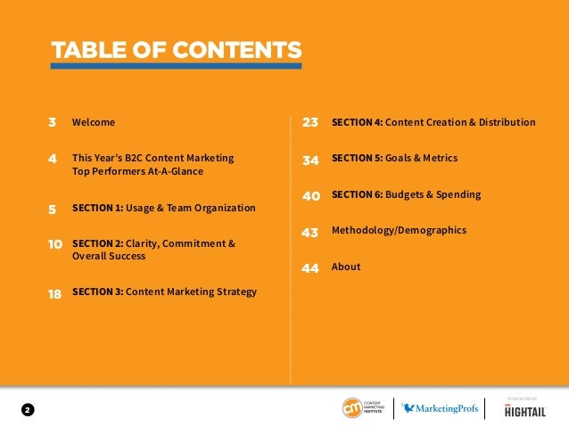 B2C Content Marketing 2017 - Benchmarks, Budgets & Trends - North America Slide 2