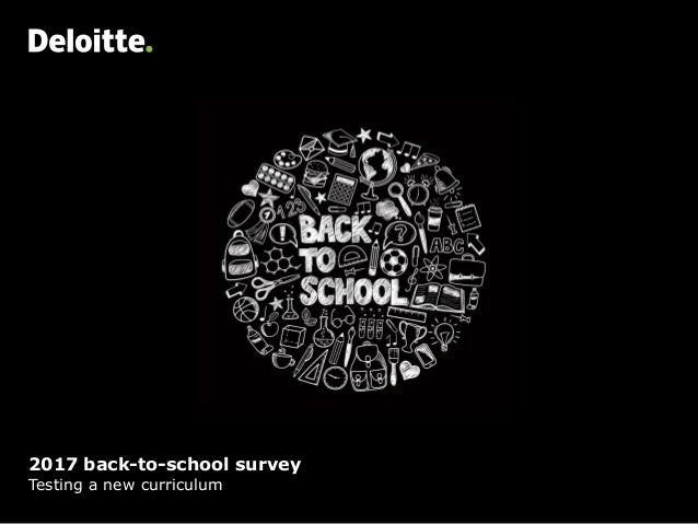 2017 back-to-school survey Testing a new curriculum