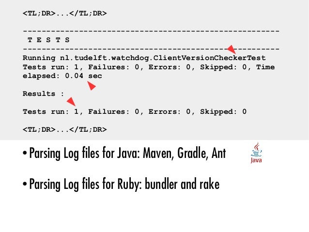 ● 69% of Java and 87.5% of the Ruby projects: test runs b) How Prevalent Is Dynamic Analysis?