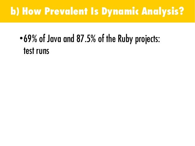 b) How Prevalent Is Dynamic Analysis?