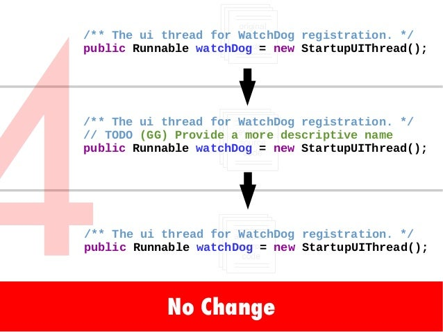 No Change /** The ui thread for WatchDog registration. */ public Runnable watchDog = new StartupUIThread(); /** The ui thr...