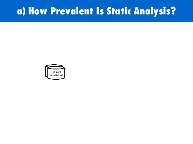 122 a) How Prevalent Is Static Analysis?