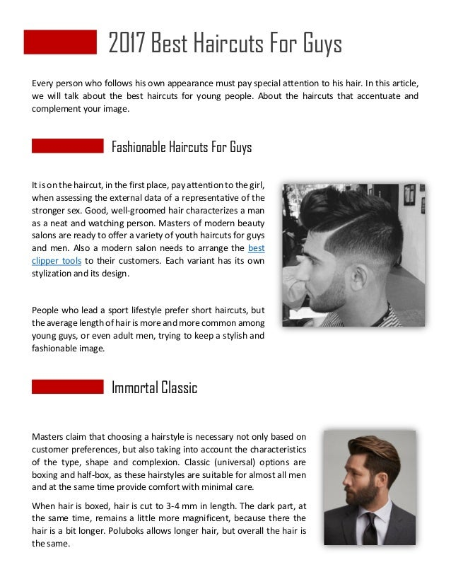2017 Best Haircuts For Guys