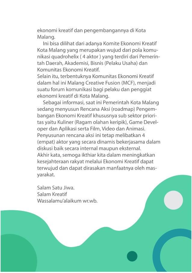 2017 BUKU EKRAF sub sektor film, video, animasi kota malang